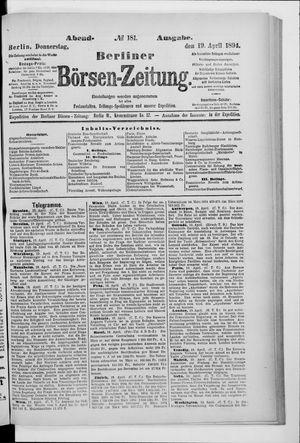 Berliner Börsen-Zeitung vom 19.04.1894