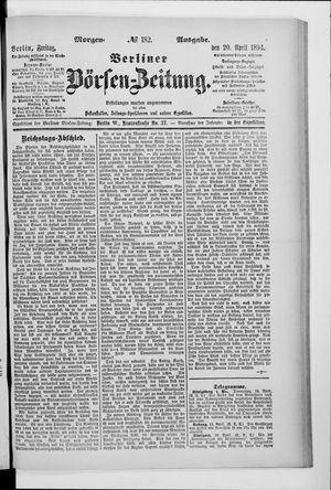 Berliner Börsen-Zeitung vom 20.04.1894