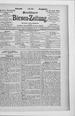 Berliner Börsen-Zeitung vom 21.04.1894