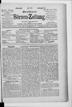 Berliner Börsen-Zeitung vom 23.04.1894