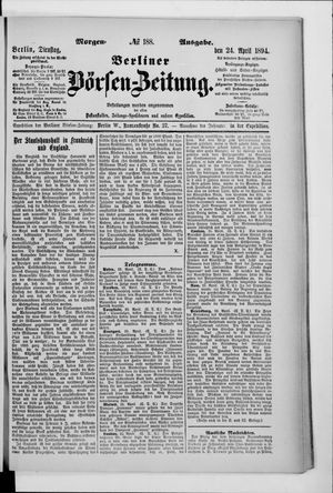 Berliner Börsen-Zeitung vom 24.04.1894