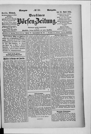Berliner Börsen-Zeitung vom 25.04.1894
