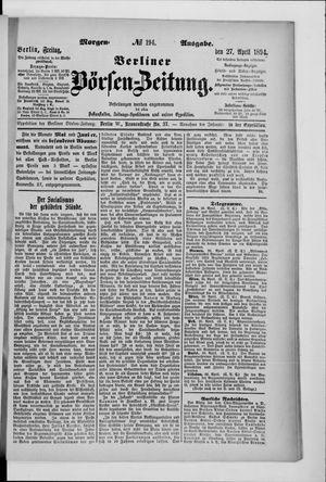 Berliner Börsen-Zeitung vom 27.04.1894