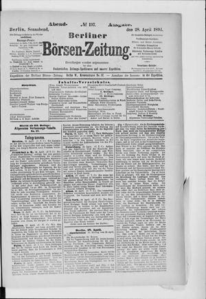 Berliner Börsen-Zeitung vom 28.04.1894