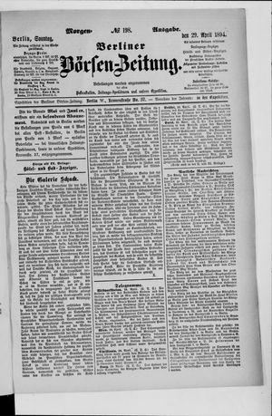 Berliner Börsen-Zeitung vom 29.04.1894