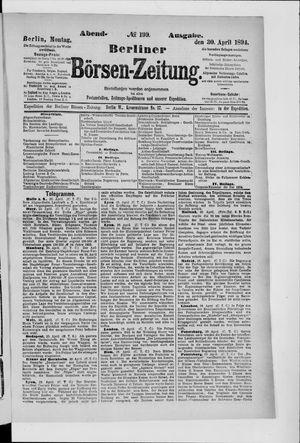 Berliner Börsen-Zeitung vom 30.04.1894