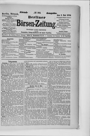 Berliner Börsen-Zeitung vom 02.05.1894