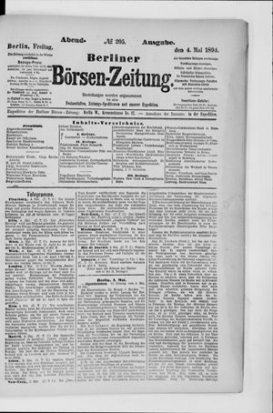 Berliner Börsen-Zeitung vom 04.05.1894