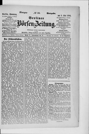 Berliner Börsen-Zeitung vom 05.05.1894