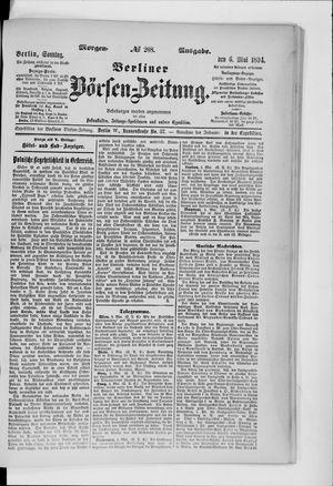 Berliner Börsen-Zeitung vom 06.05.1894