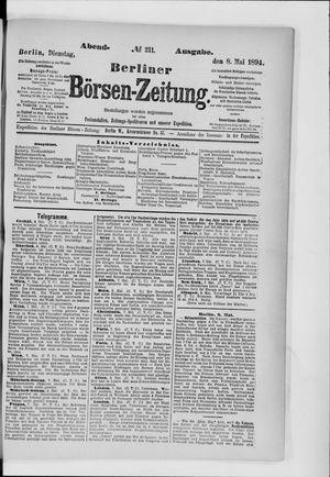 Berliner Börsen-Zeitung vom 08.05.1894