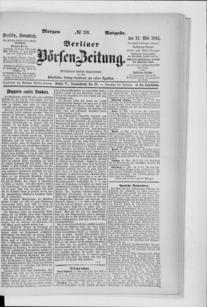 Berliner Börsen-Zeitung vom 12.05.1894