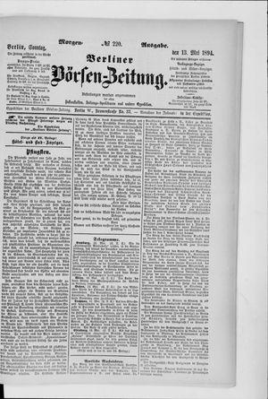 Berliner Börsen-Zeitung vom 13.05.1894