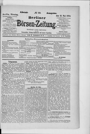 Berliner Börsen-Zeitung vom 15.05.1894