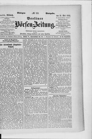 Berliner Börsen-Zeitung vom 16.05.1894