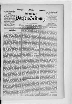 Berliner Börsen-Zeitung vom 17.05.1894