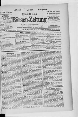 Berliner Börsen-Zeitung vom 18.05.1894