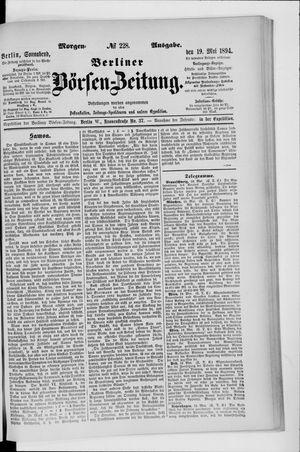Berliner Börsen-Zeitung vom 19.05.1894