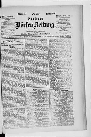 Berliner Börsen-Zeitung vom 20.05.1894