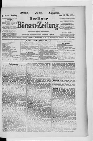 Berliner Börsen-Zeitung vom 21.05.1894