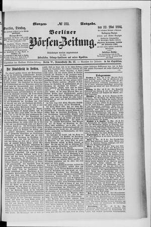 Berliner Börsen-Zeitung vom 22.05.1894