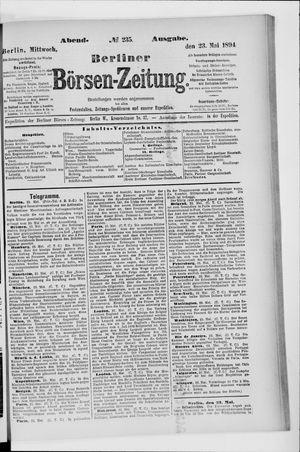 Berliner Börsen-Zeitung vom 23.05.1894