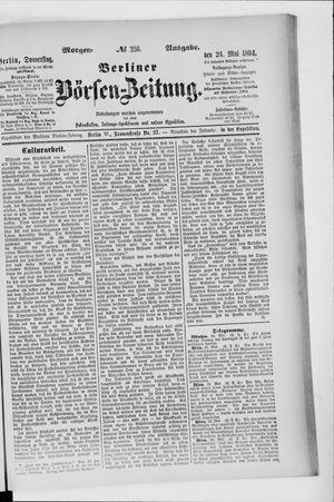 Berliner Börsen-Zeitung vom 24.05.1894