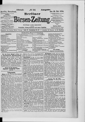 Berliner Börsen-Zeitung vom 26.05.1894