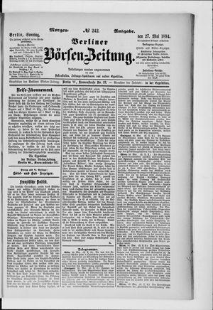 Berliner Börsen-Zeitung vom 27.05.1894