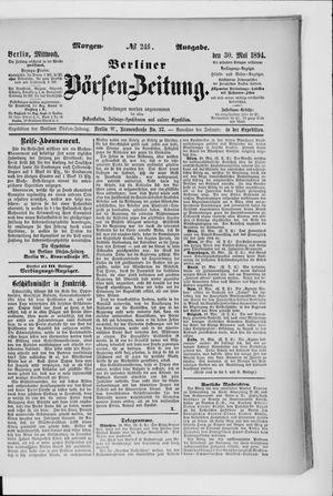 Berliner Börsen-Zeitung vom 30.05.1894
