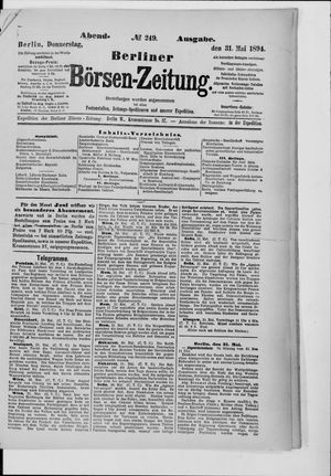 Berliner Börsen-Zeitung vom 31.05.1894