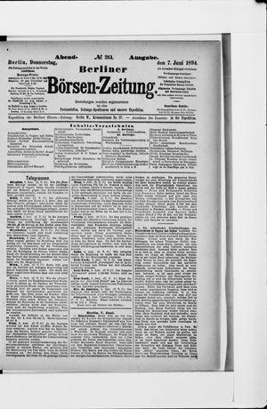 Berliner Börsen-Zeitung vom 07.06.1894