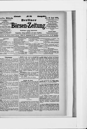 Berliner Börsen-Zeitung vom 13.06.1894