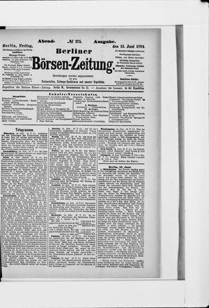 Berliner Börsen-Zeitung vom 15.06.1894
