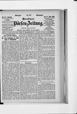 Berliner Börsen-Zeitung vom 17.06.1894