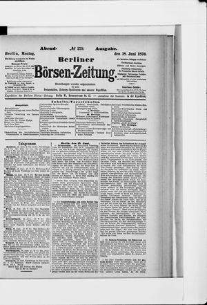 Berliner Börsen-Zeitung vom 18.06.1894