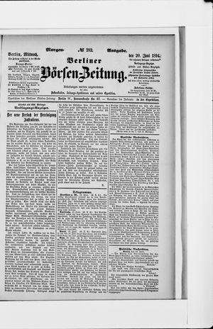 Berliner Börsen-Zeitung vom 20.06.1894