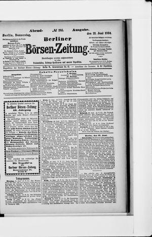 Berliner Börsen-Zeitung vom 21.06.1894