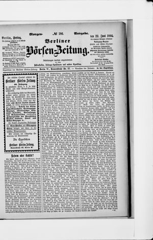 Berliner Börsen-Zeitung vom 22.06.1894