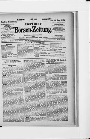 Berliner Börsen-Zeitung vom 23.06.1894