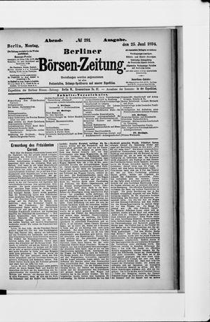 Berliner Börsen-Zeitung vom 25.06.1894
