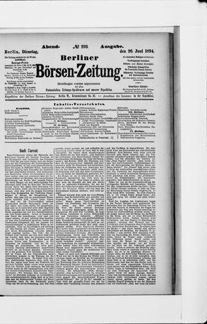 Berliner Börsen-Zeitung vom 26.06.1894