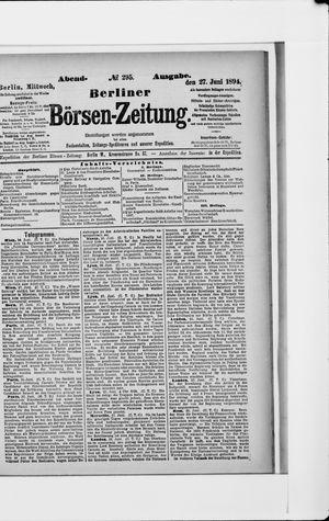 Berliner Börsen-Zeitung vom 27.06.1894