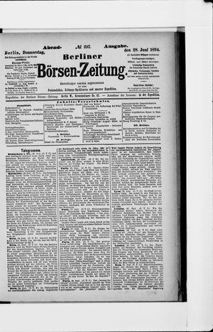 Berliner Börsen-Zeitung vom 28.06.1894