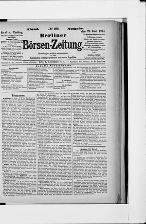 Berliner Börsen-Zeitung vom 29.06.1894