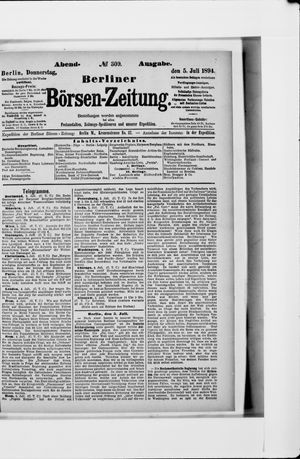 Berliner Börsen-Zeitung vom 05.07.1894