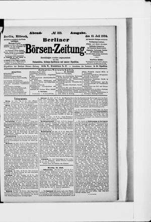Berliner Börsen-Zeitung vom 11.07.1894