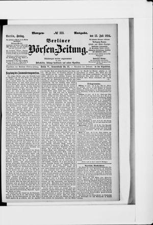 Berliner Börsen-Zeitung vom 13.07.1894