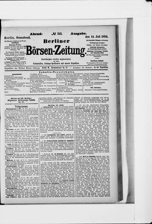 Berliner Börsen-Zeitung vom 14.07.1894