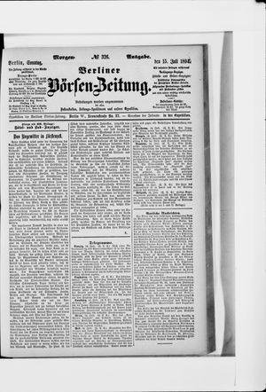 Berliner Börsen-Zeitung vom 15.07.1894